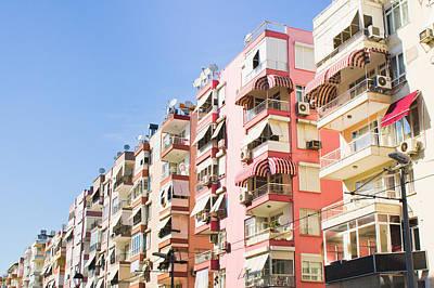Antalya Buildings Art Print by Tom Gowanlock