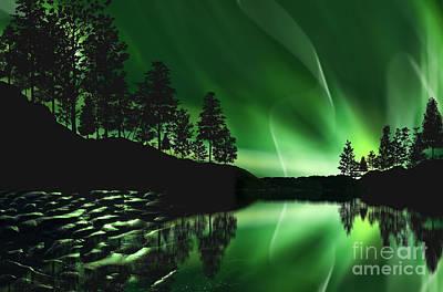 Art Print featuring the photograph Aurora Borealis by Setsiri Silapasuwanchai