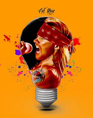 Mixed Media - Axl Rose Collection by Marvin Blaine