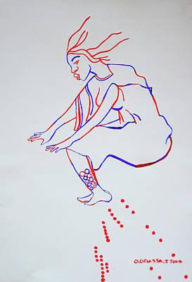 Painting - Bakiga Dance - Uganda by Gloria Ssali