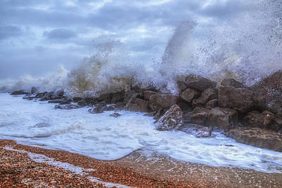 Windy Photograph - Barton On Sea - England by Joana Kruse