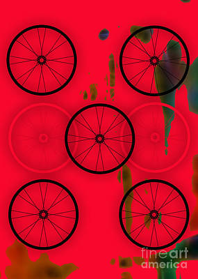 Mixed Media - Bicycle Wheel Collection by Marvin Blaine