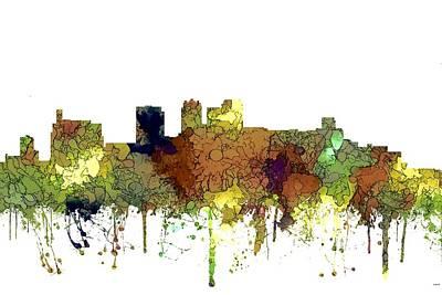 Digital Art - Birmingham Alabama Skyline by Marlene Watson