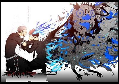 Blue Digital Art - Blue Exorcist by Super Lovely