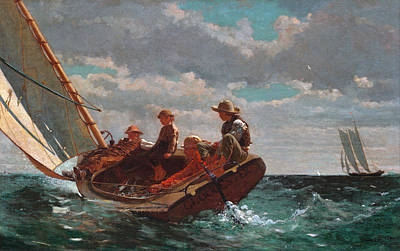 Painting - Breezing Up by Winslow Homer