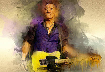 Bruce Springsteen Print by Best Actors