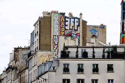 Photograph - Building Art In Paris, France by Richard Rosenshein
