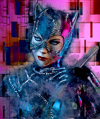 Mixed Media - Catwoman by Marvin Blaine