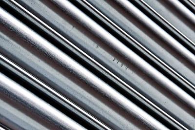 Oxidation Photograph - Corrugated Metal by Tom Gowanlock