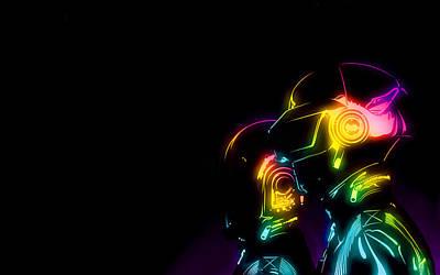 Daft Punk                     Art Print by F S