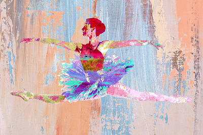 Dance Art Print by Elena Kosvincheva