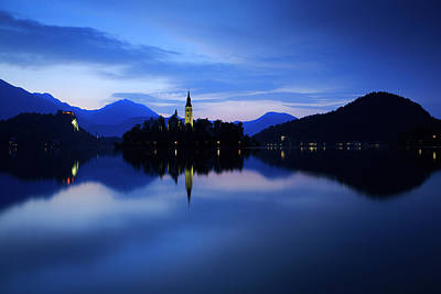 Photograph - Dawn Breaks Over Lake Bled by Ian Middleton