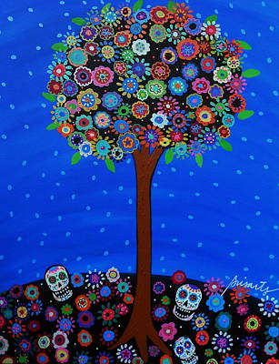 Day Of The Dead Print by Pristine Cartera Turkus