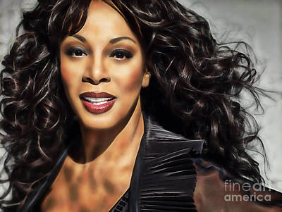 Disco Mixed Media - Donna Summer Collection by Marvin Blaine