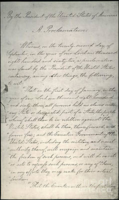 Abolition Photograph - Emancipation Proclamation by Granger