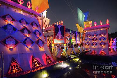 Durga Puja Photograph - Exterior Of Decorated Durga Puja Pandal At Kolkata West Bengal India by Rudra Narayan Mitra