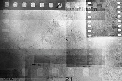 Filmstrip Photograph - Film Frames  by Les Cunliffe
