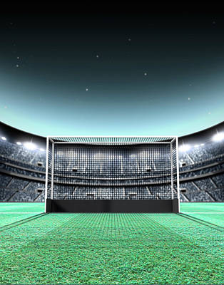 Floodlit Stadium Night Art Print