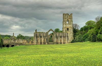 England Photograph - Fountains Abbey by Carol Herbert