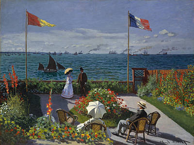 Painting - Garden At Sainte-adresse by Claude Monet