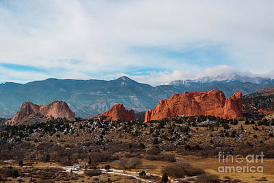 Abstract Airplane Art Rights Managed Images - Garden of the Gods and Pikes Peak Royalty-Free Image by Steven Krull