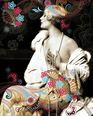 Goddess Art Print by Chris Andruskiewicz