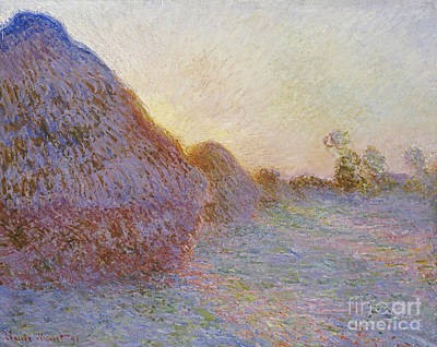 Painting - Haystacks by Celestial Images