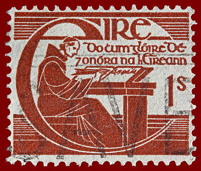 Irish Postage Stamp Art Print by James Hill