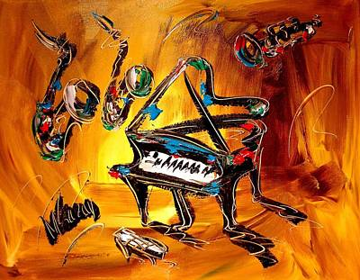 Jazz Art Print by Mark Kazav