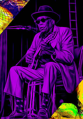 Legend Mixed Media - John Lee Hooker Collection by Marvin Blaine