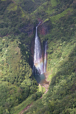 Photograph - Manawaiopuna Falls by Steven Lapkin
