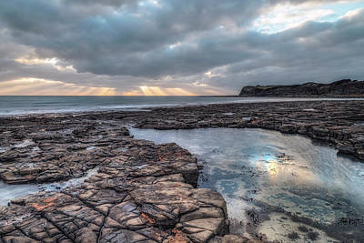 Ledge Photograph - Kimmeridge Bay - England by Joana Kruse