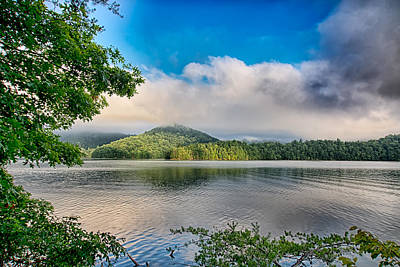 Vermeer Rights Managed Images - Lake Santeetlah In Great Smoky Mountains Royalty-Free Image by Alex Grichenko