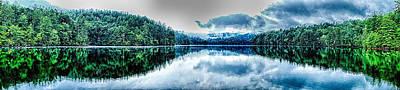 Water Droplets Sharon Johnstone - Lake Santeetlah Scenery In Great Smoky Mountains by Alex Grichenko