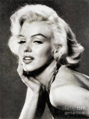 Actors Royalty-Free and Rights-Managed Images - Marilyn Monroe by John Springfield by John Springfield