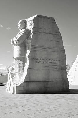 Photograph - Martin Luther King Statue by Brandon Bourdages