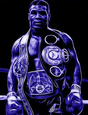 Mixed Media - Mike Tyson Collection by Marvin Blaine