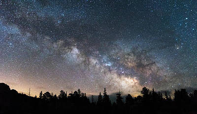 Photograph - 11 Mile Milky Way by Darren  White