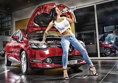 Photograph - Miss Auto Zuerich - Calendar Image by Rod Meier