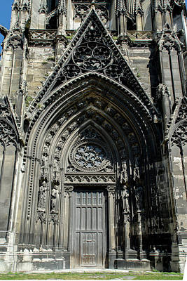 Digital Art - Monastery Of Saint Ouen In Rouen France by Carol Ailles