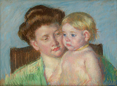 Child Painting - Mother And Child by Mary Cassatt