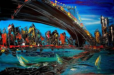 Water Sports Poster Painting - New York by Mark Kazav