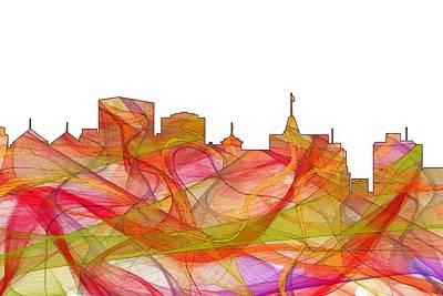 Digital Art - Oakland California Skyline by Marlene Watson