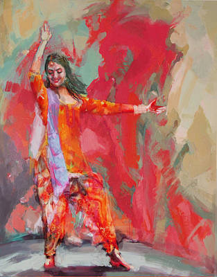 South East Asian Art Painting - 11 Pakistan Folk Punjab B by Maryam Mughal