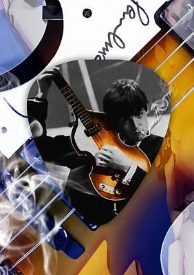 Guitar Mixed Media - Paul Mccartney Art by Marvin Blaine