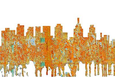 Digital Art - Philadelphia Pennsylvania Skyline by Marlene Watson