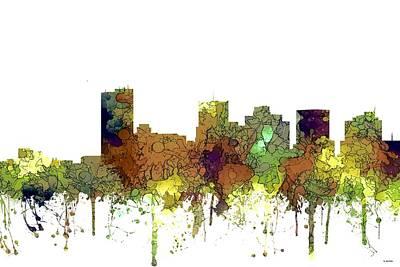 Digital Art - Phoenix Arizona Skyline by Marlene Watson