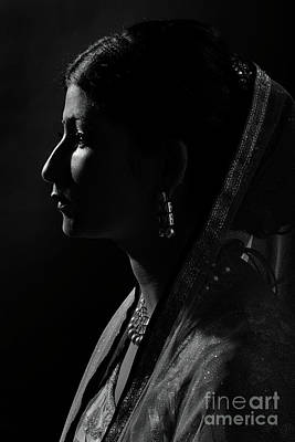 Photograph - Portrait Of Young Lady by Kiran Joshi