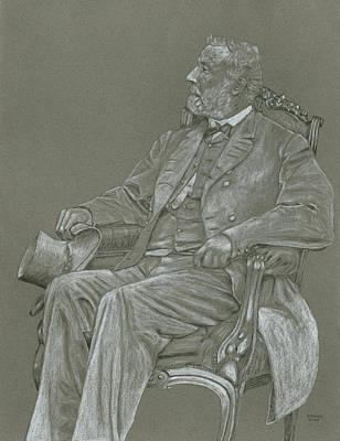 Robert E Lee Drawing - Robert E. Lee by Dennis Larson