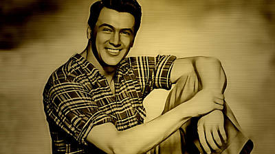 Mixed Media - Rock Hudson Collection by Marvin Blaine
